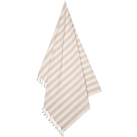 Liewood Beach Towel Stripe Sorbet Rose Creme