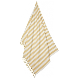 Liewood Beach Towel Stripe  Yellow Mellow Creme