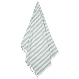 Liewood Beach Towel Stripe Sea Blue Creme