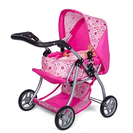 Mini Mommy dukkevogn med lift, pink