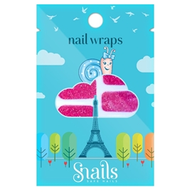 Snails nail wraps - pink glimmer
