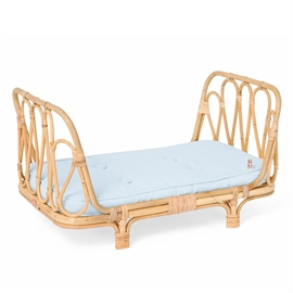 Poppie dukkeseng Day Bed blå madras