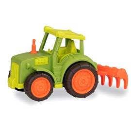 Wonder Wheels traktor grøn m. harve